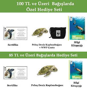 hediye seti, deniz kaplumbagasi, sertifika